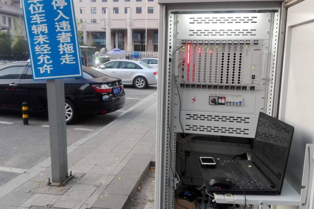 Bivocom TR321 used for parking lot