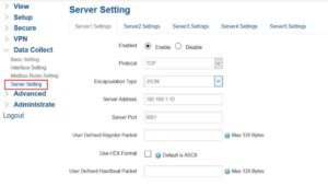 Point the data to your data center by configure the Server Settings