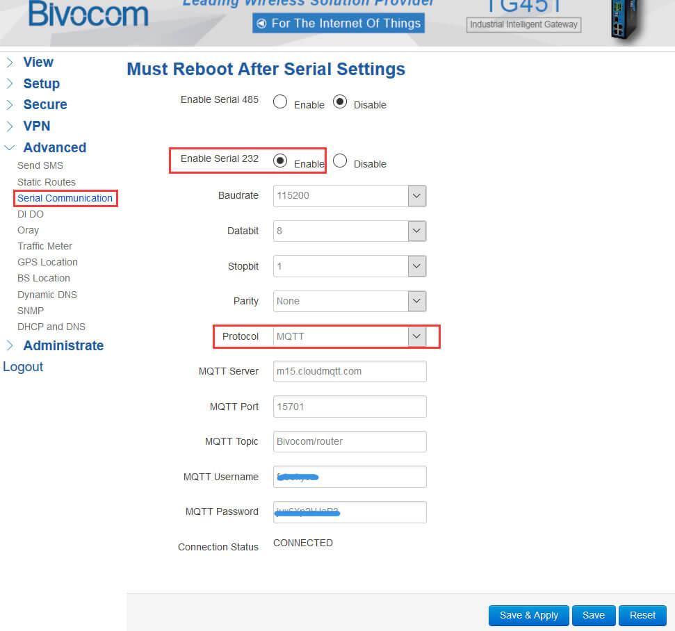 Quick Setup MQTT On Bivocom Router