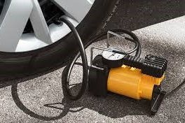 air compressor pumps to inflate vehicle and bicycle tyres